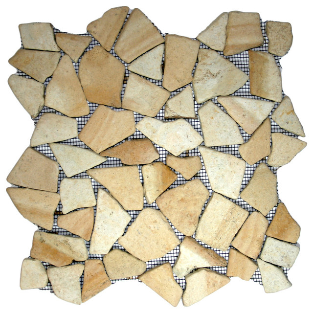 12 Quot X12 Quot Sandstone Mosaic Tile Traditional Mosaic Tile