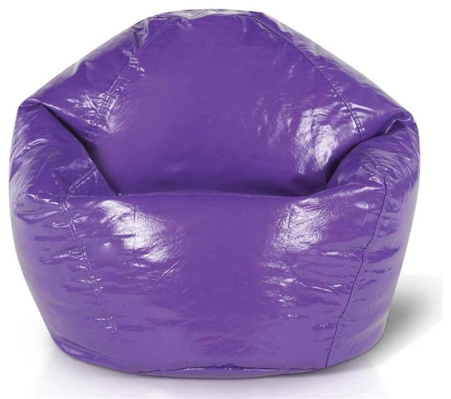 Glossy Vinyl Bean Bag in Purple Contemporary Bean Bag  : contemporary bean bag chairs from www.houzz.com size 640 x 566 jpeg 63kB