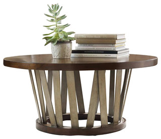 lorimer round cocktail table - transitional - coffee tables -