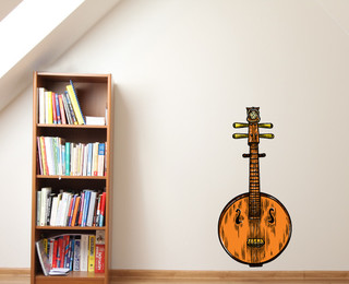 Chinese Instrument Vinyl Wall Decal ...