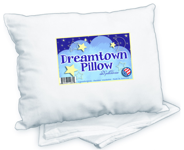 Dreamtown Kids Toddler Pillow with Case