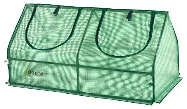 Ogrow Outdoor Greenhouse Cloche With Pe Cover For Protected Gardening.