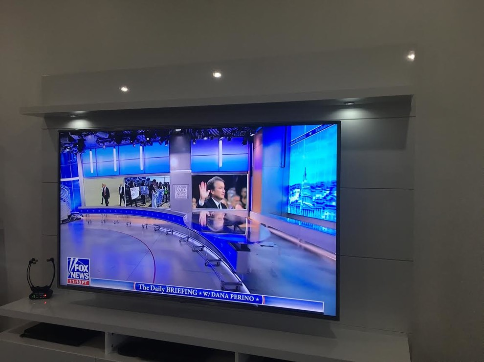 """75"""" TV and Wall Mount Console Installation"""