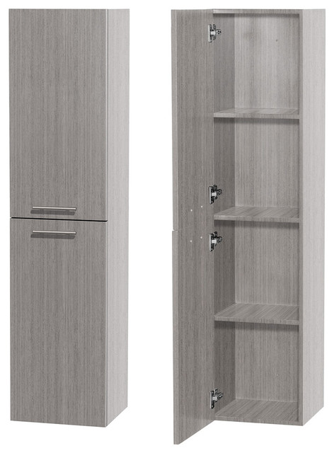 Bailey Bathroom Wall Mounted 2 Door Storage Cabinet Gray Oak