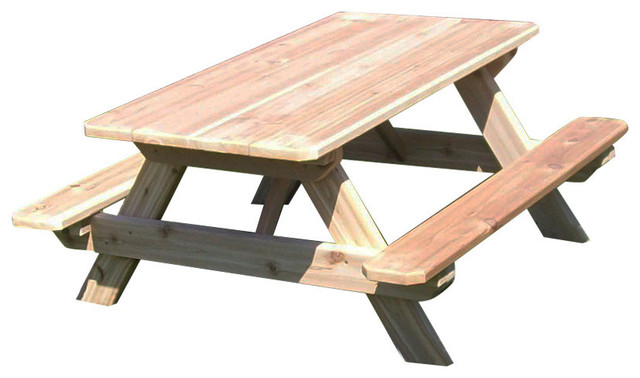Incredible Cedar Outdoor Childs Picnic Table Unfinished Download Free Architecture Designs Scobabritishbridgeorg