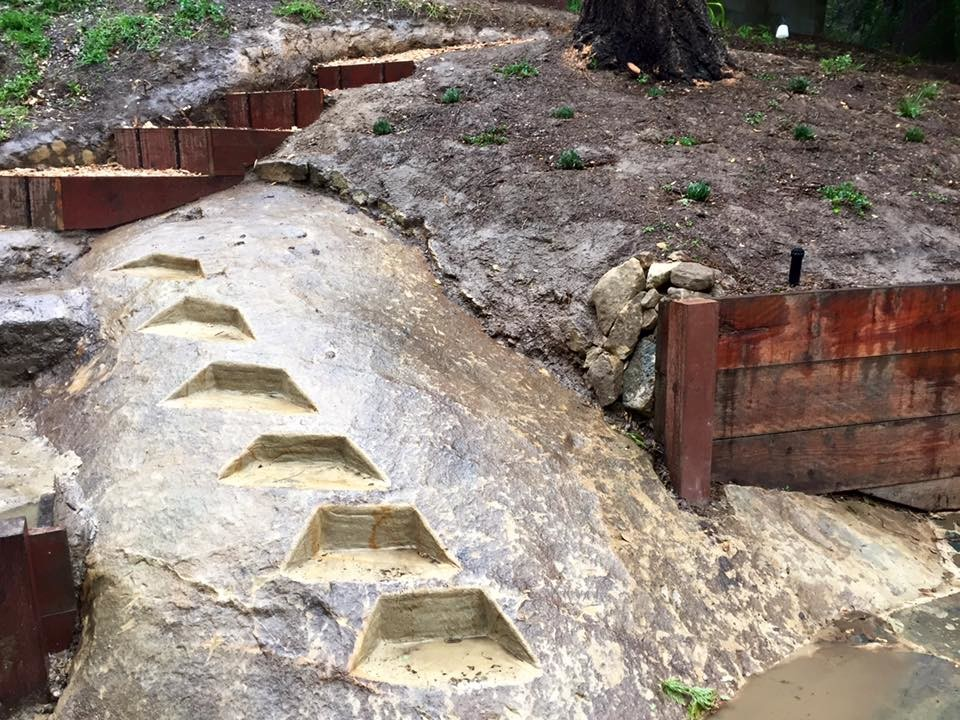 Steps Cut into the Clay Hillside