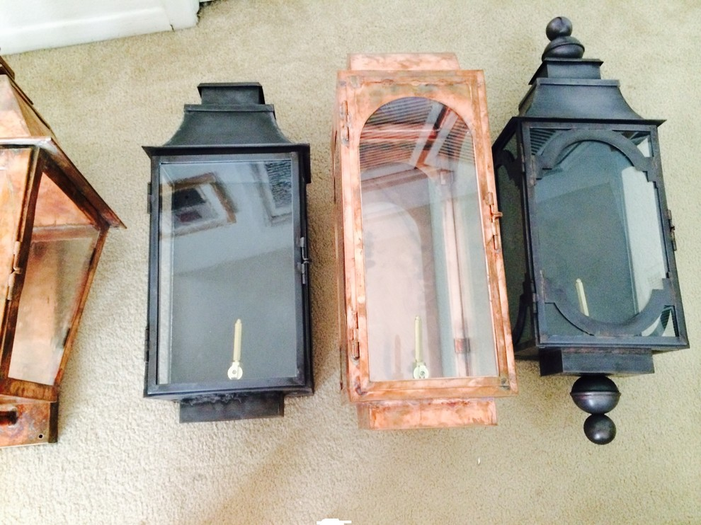 Lanterns with Natural Copper Finish and Dark Patina Finish