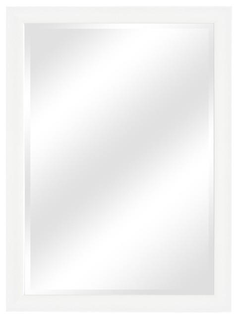 Jude Modern Bathroom Mirror, Matte White