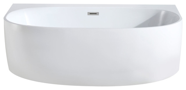 "Monte Oval Soaking Bathtub, White, 58""x33"""