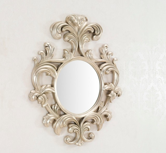 geneve decorative wall mirror large wall mirror silver finish modern wall - Decorative Wall Mirror