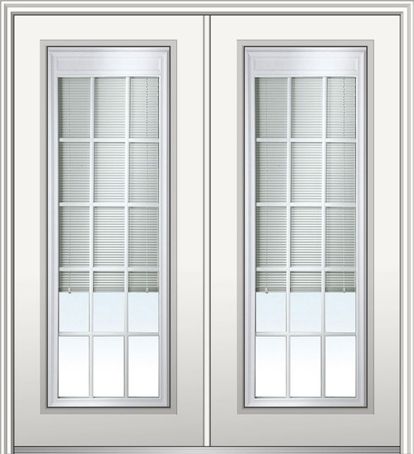 Internal Blinds With Grilles Steel Double Full Lite 74 Hand In Swing Left