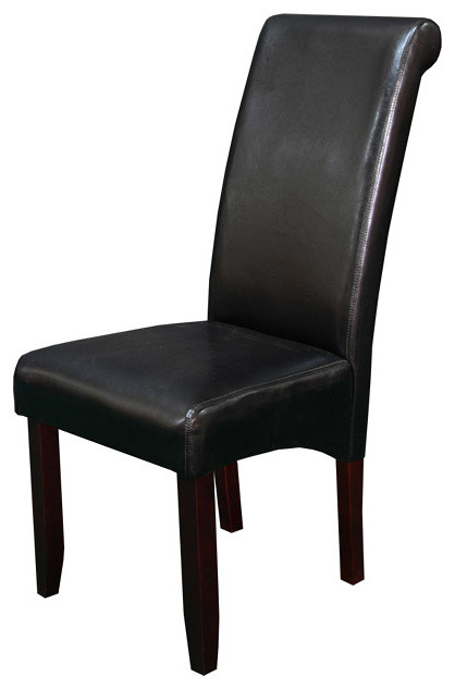 faux leather black dining chairs set of 2 contemporary dining chairs