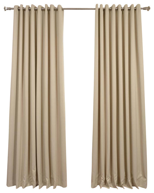 Faux Silk Overlapping Curtain, Ivory