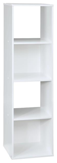 Cubeicals Shelving Unit, White, 4 Cubes