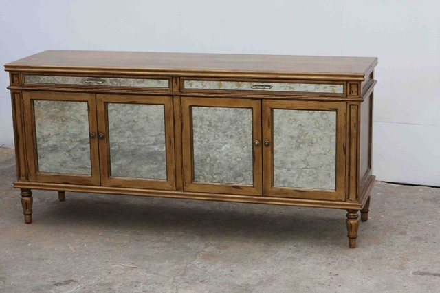 Vintage antiqued hutch/cabinet handmade in our wood shop - Traditional - China Cabinets And ...