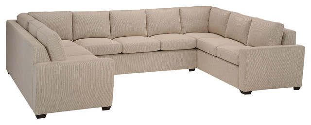 Geo U Sectional:  3 Seat Middle In Samira Natural.