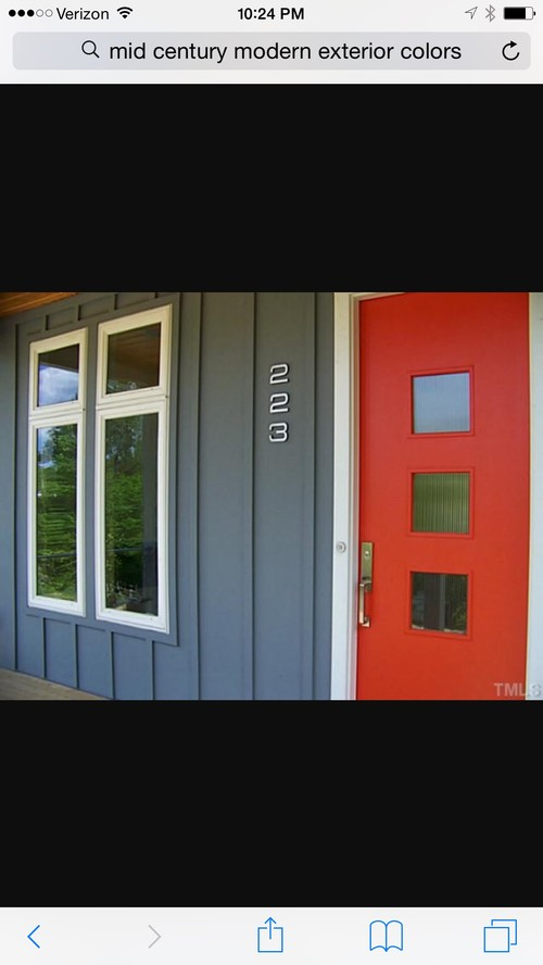 mid century modern exterior paint colors - Mid Century Modern Home Exterior Paint Colors