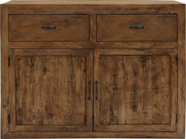 Gavin2-Drawer, 2-Door Bar Cabinet - Rustic - Wine And Bar Cabinets - by HedgeApple