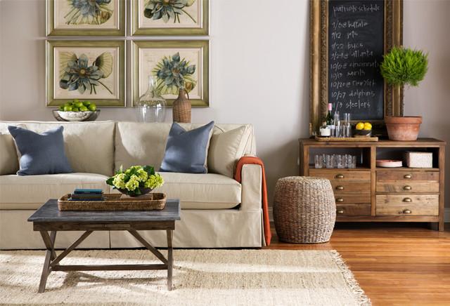 Atwood Slipcover Sofatransitional Living Room Boston