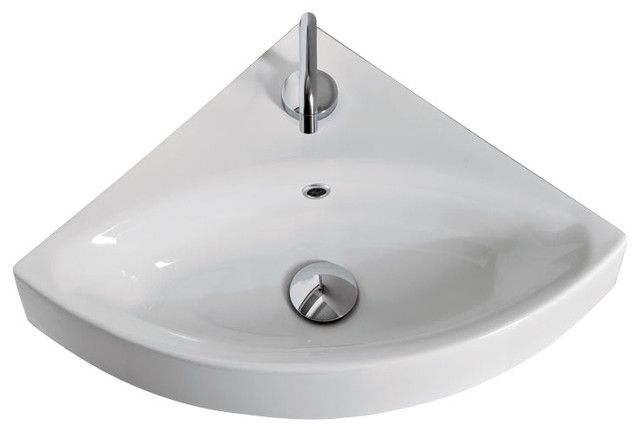Cento 3541 Wall Hung or Counter Top Corner Sink 17 7  x 17 7  contemporary bathroom. Cento 3541 Wall Hung or Counter Top Corner Sink 17 7  x 17 7