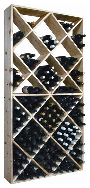 Wine Bottle Storage Rack With Bins.