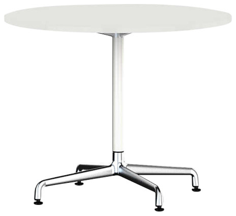 Eames Round Table By Herman Miller Universal Base White Laminate