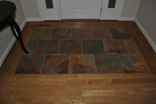 Chesterfield Project Job Finished Wood With Slate Tile