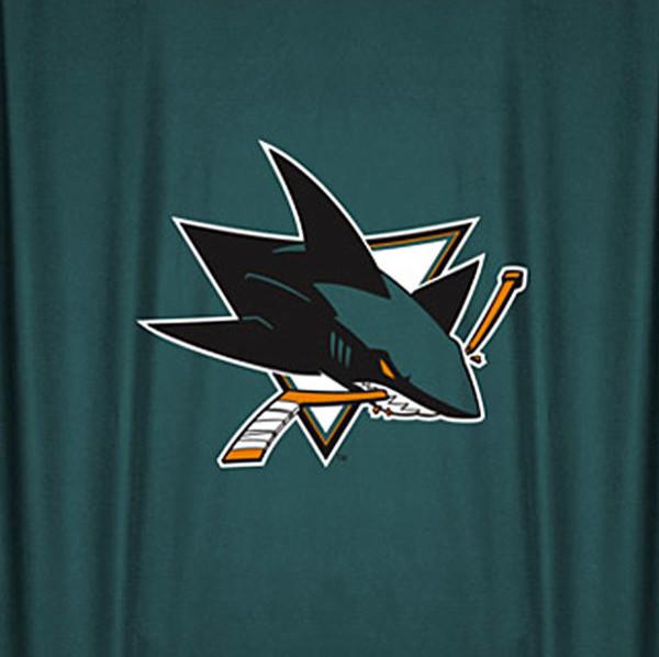 NHL San Jose Sharks Hockey Locker Room Shower Curtain