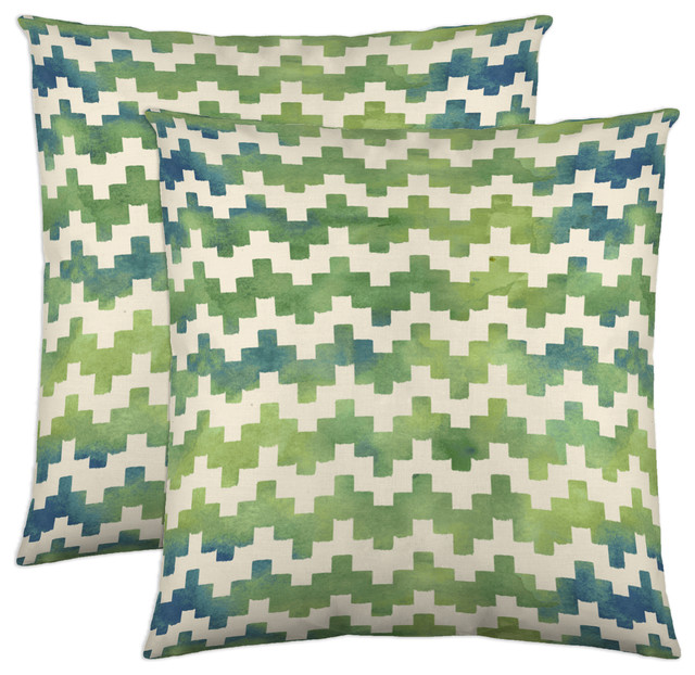 Pixie Decorative Pillow, 18x18, Moss, Set Of 2.