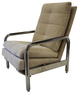 Thayer Coggin   Consigned, Vintage Chrome Recliner By Milo Baughman For Thayer  Coggin   This