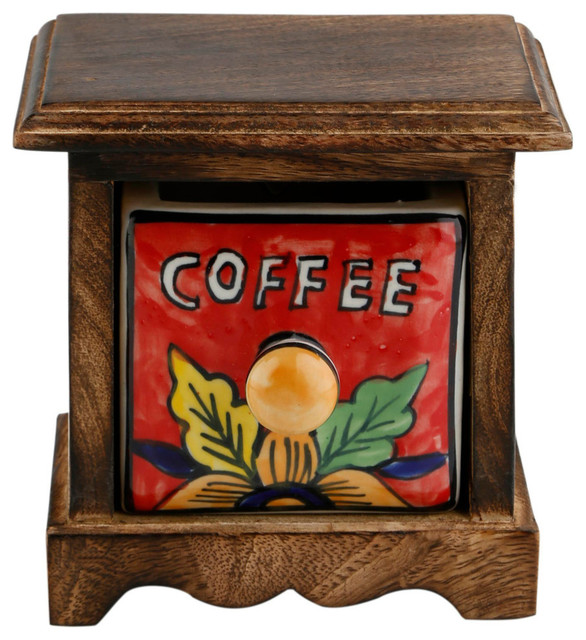 Curios Coffee Drawer Brown Wood Apothecary Chest.