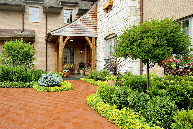 French country landscape traditional landscape for Country garden designs landscaping