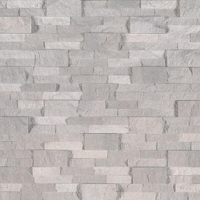 Iceland Gray Panels 6X24, Splitface, Travertine, Ledgers