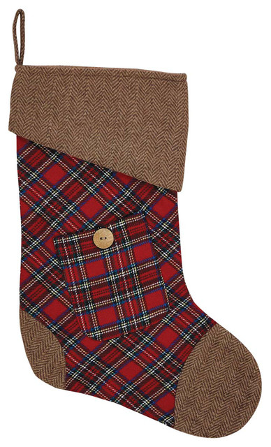 gavin stocking rustic christmas stockings and holders - Rustic Christmas Stockings