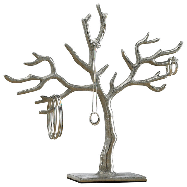 20 Branch Casted Tree of Life Jewelry Holder 11 Contemporary