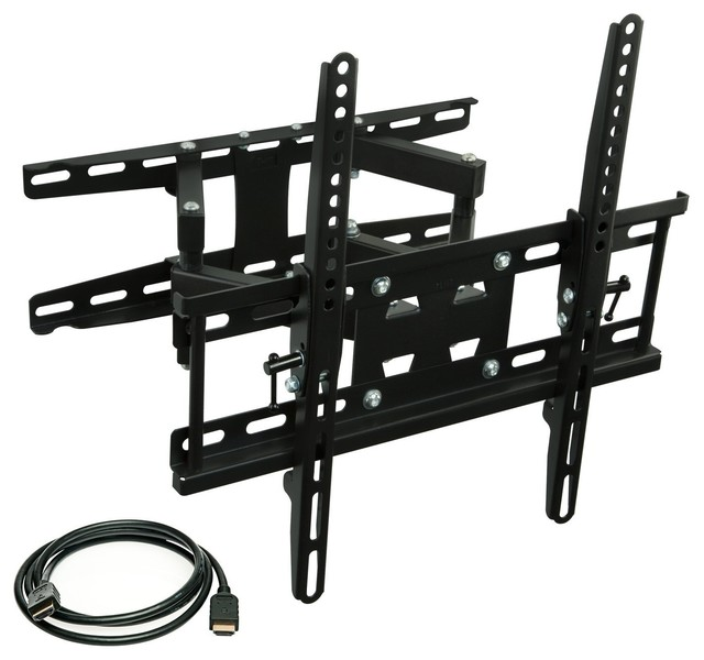 Full Motion Tilting Dual Arm Tv Wall Mount Bracket With Extendable