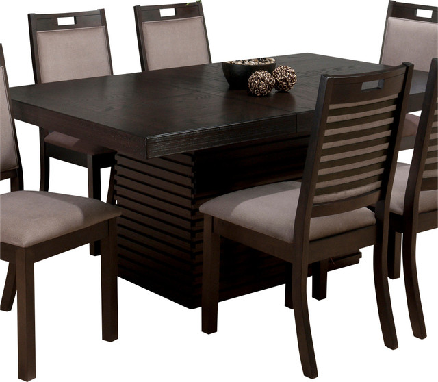 Jofran 588 72 Sensei Extension Leaf Dining Table In Oak  Transitional Folding Tables