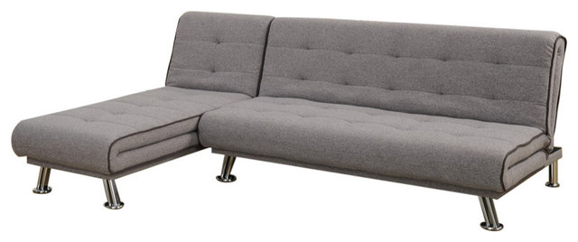 2-Piece Sectional Set With Adjustable Tufted Back, Gray.