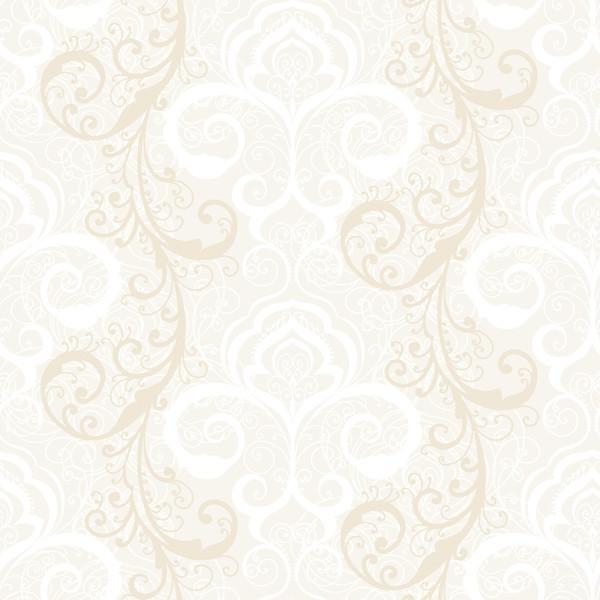 Henna Wallpaper: Vanessa White Henna Brocade Wallpaper