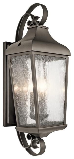 Kichler 49738oz Forestdale Outdoor Wall Light, Olde Bronze.