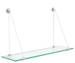 Spancraft Glass Peacock Glass Shelf 4.75 x 12 Brass