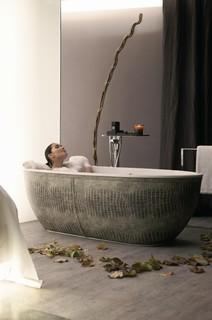 Bathtub African Skin - Croco modern bathroom