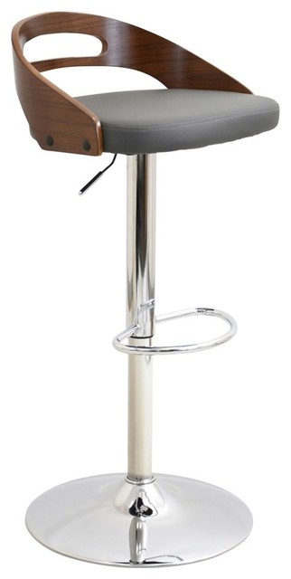 Lumisource Cassis H Adjustable Barstool With Swivel