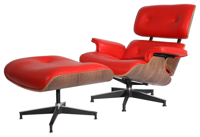 MLF Plywood Lounge Chair Real Leather Indoor Chaise Lounge Chairs Houzz