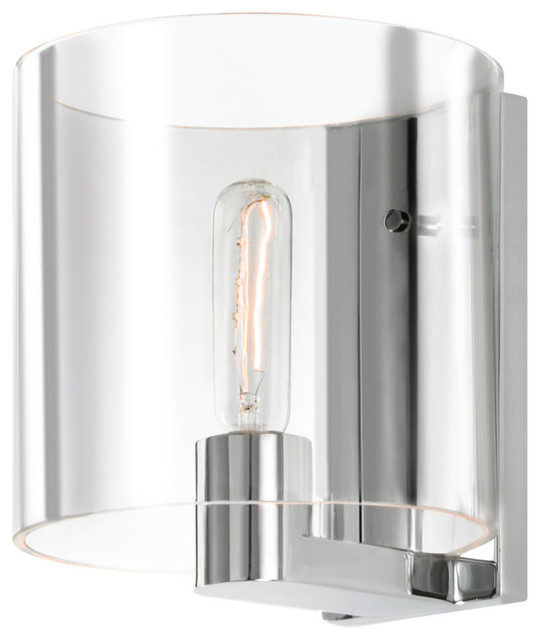 Delano 1 Light Delano Sconce With Polished Chrome Finish Contemporary Wall  Sconces Part 44