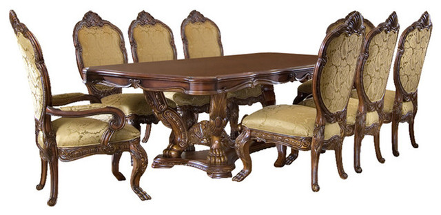 Chateau Beauvais 13 Piece Dining Room Set, Noble Bark Victorian Dining Sets