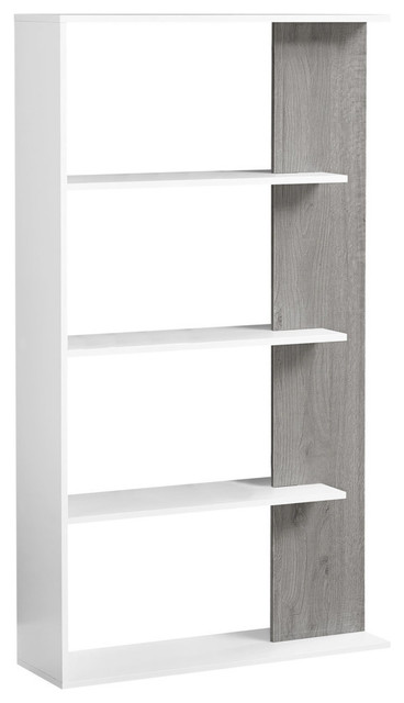 "Bookcase, 56"", White/gray."