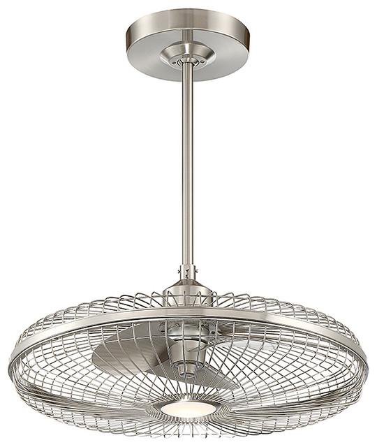 Wetherby Fan D'Lier, Satin Nickel