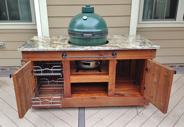 Big Green Egg Table Raleigh Nc Traditional Other By