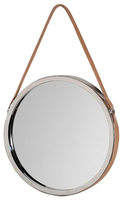 Leather Frame Mirror, Tan